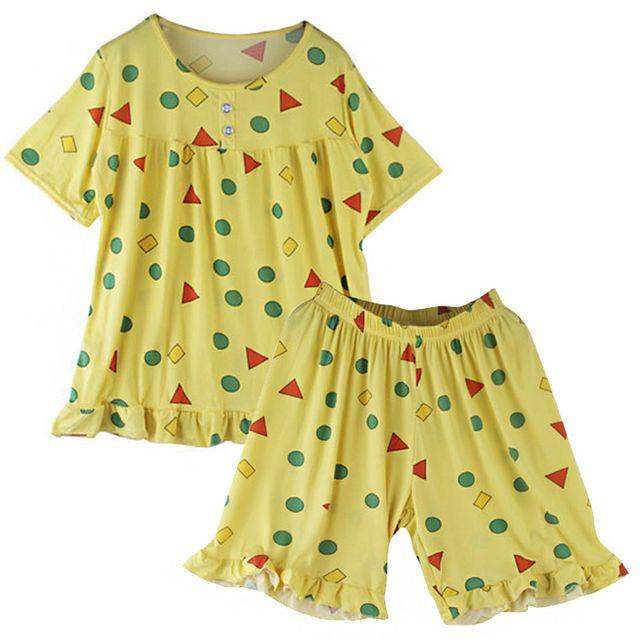 W 레이스 포인트 여자 여름 귀여운 쿨링 잠옷 세트