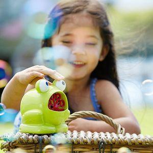 어린이 장난감 야외 놀이 자동 버블 메이커 개구리