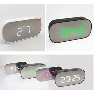 알람 거울 탁상시계 온도 디지털 야간조명 미러 시계