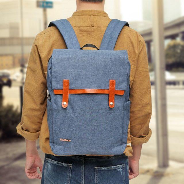 [현재분류명],트랜디한감성 스냅단추 스카이블루백팩,백팩,캐쥬얼백팩,가방