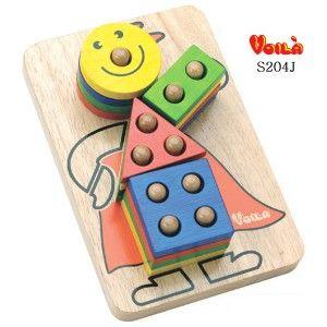 원목 퍼즐 블록 놀이 브알라 삐에로구멍퍼즐 어린이