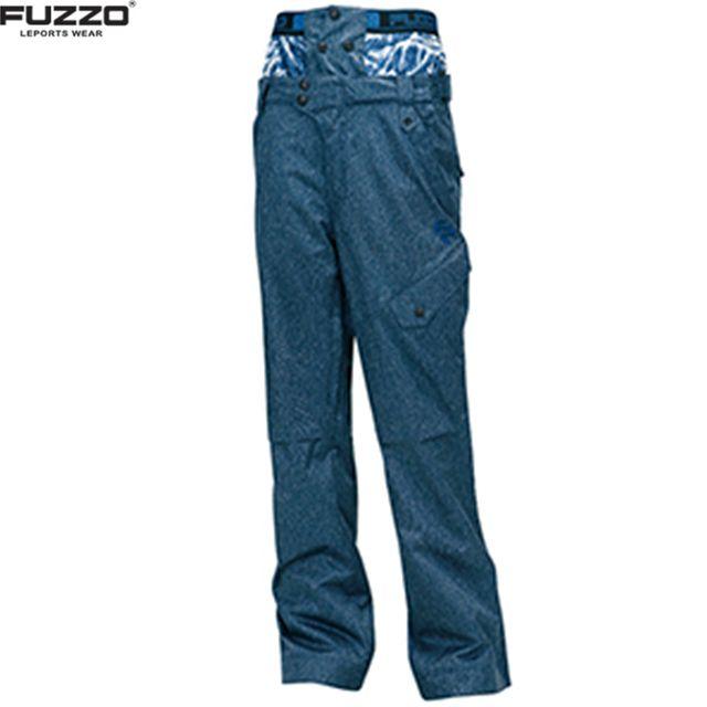 푸조 뒷 주머니 야광띠 있는 스키 바지 블루 B3484