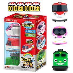 아이코닉스 띠띠뽀와 친구들 풀백 기차 모형 장난감