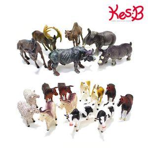 (캐스B)애니멀킹덤 농장동물 12pcs / 야생동물 6pcs