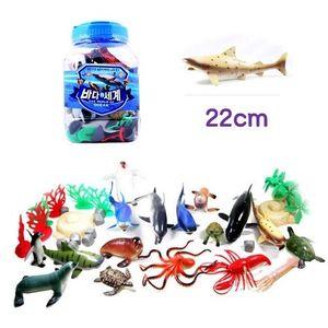 바다의 세계-대 어류모형 17여종 자연모형-바위 나무