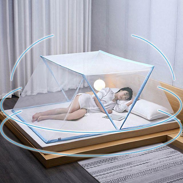 W 간편 설치 휴대용 접이식 폴딩 원터치 텐트 모기장