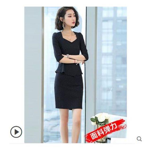 a25258873e9 [해외] 정장원피스 여성직장 패션 여름 드레스 기질 OL