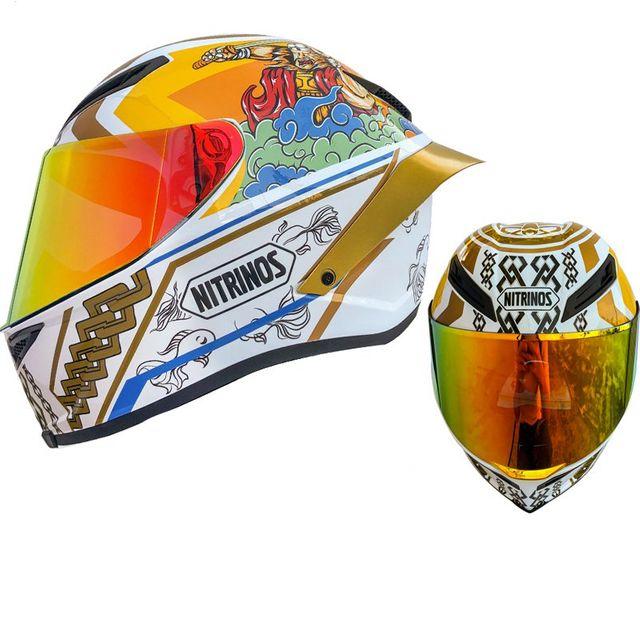 [해외] NITRINOS 오토바이 헬멧 남성과