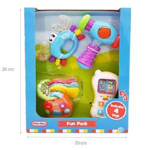 영유아장난감 놀이4종세트 전화기 딸랑이 망치 열쇠