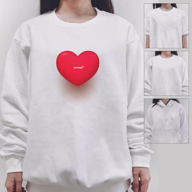 W 키밍 하트하트 여성 남성 티셔츠 후드 맨투맨 반팔