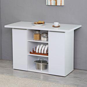 크레시 화이트 오픈형 홈바테이블/아일랜드식탁주방수