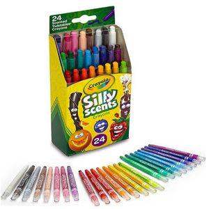 유아 어린이 색칠 향기나는 트위스트 색연필 24색