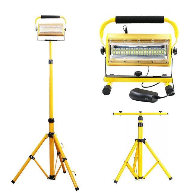 100 LED 작업등 투광기 랜턴 충전식 스탠드 포함 100W