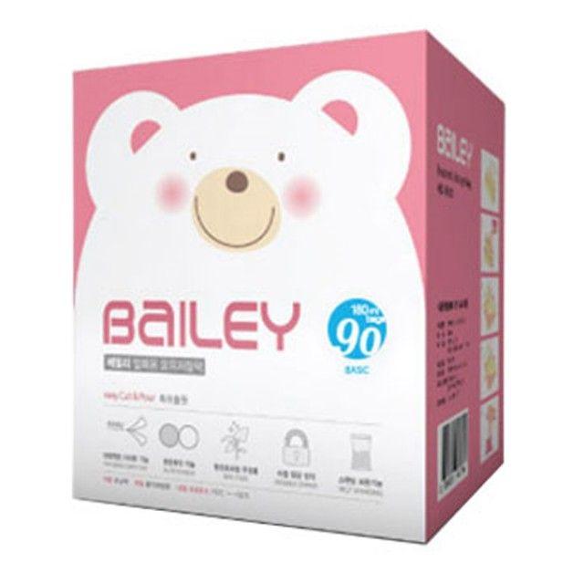 베일리 베이직 모유저장팩 90매 모유저장팩 분유저장팩 유아 어린이 아동