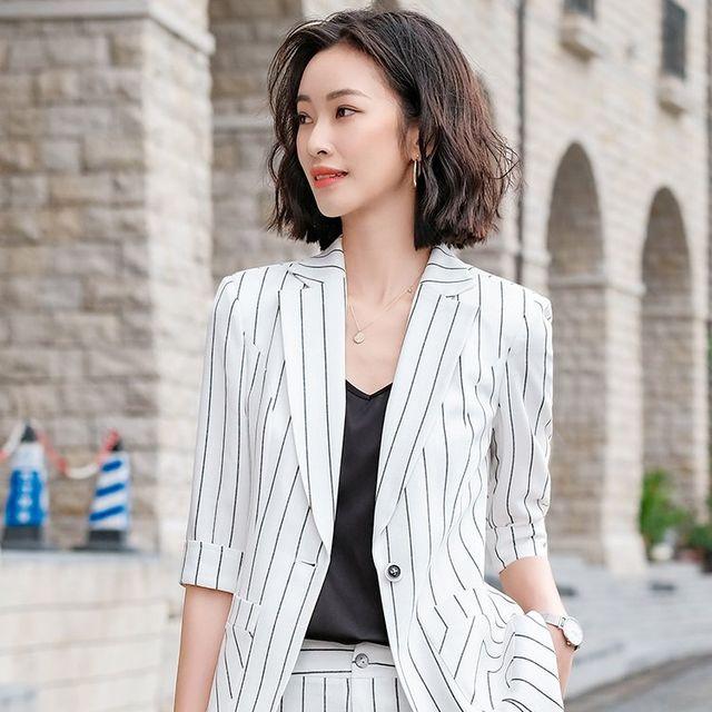 [해외] 여성 패션 재킷 자켓 정장세트엔드 매니저 오버올
