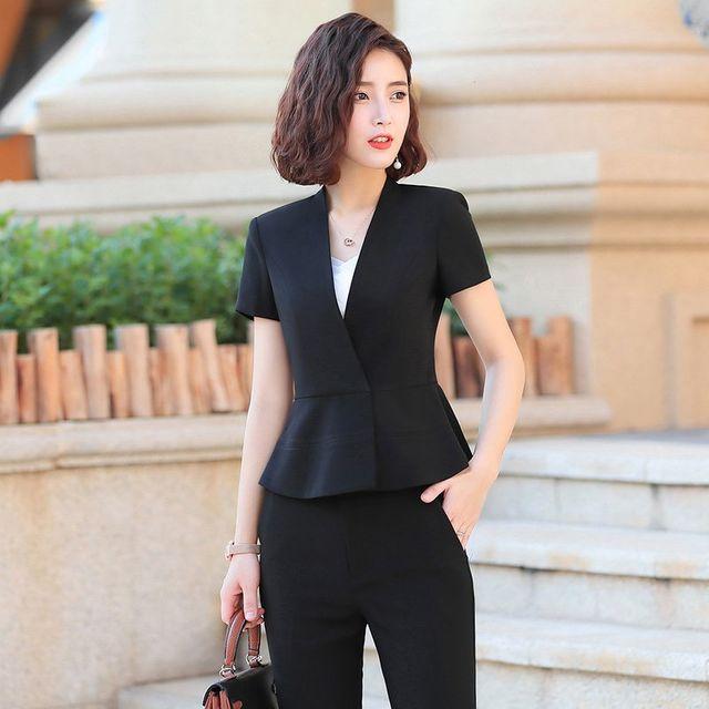 [해외] 여성 패션 재킷 자켓 정장세트작업복 기질 스커트