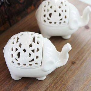 코끼리 캔들홀더 2P세트 촛대 캔들받침 티라이