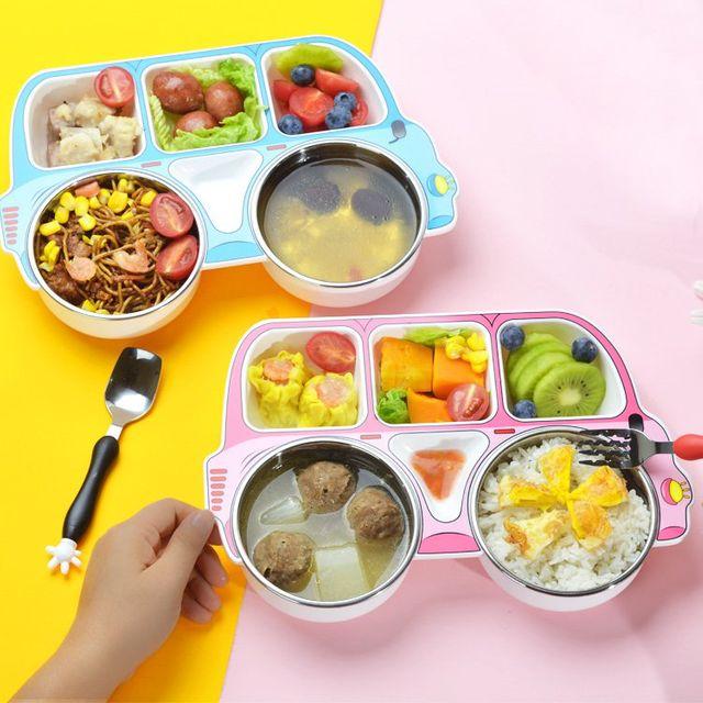[해외] 주방용품 식판 훈련 젓가락 빨판 아기 그릇