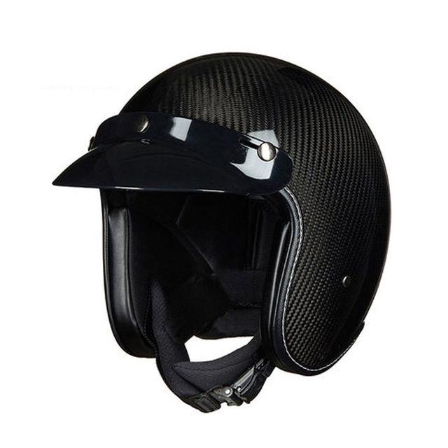 [해외] 탄소 섬유 할리 헬멧 남성과 여성 오토바이