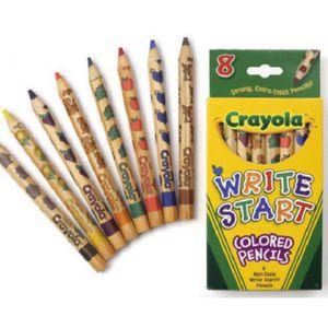 크레욜라 일반색연필 유아용 8색