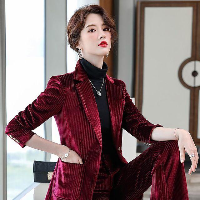 [해외] 여성 패션 재킷 자켓 정장세트이 작은 정장 재킷