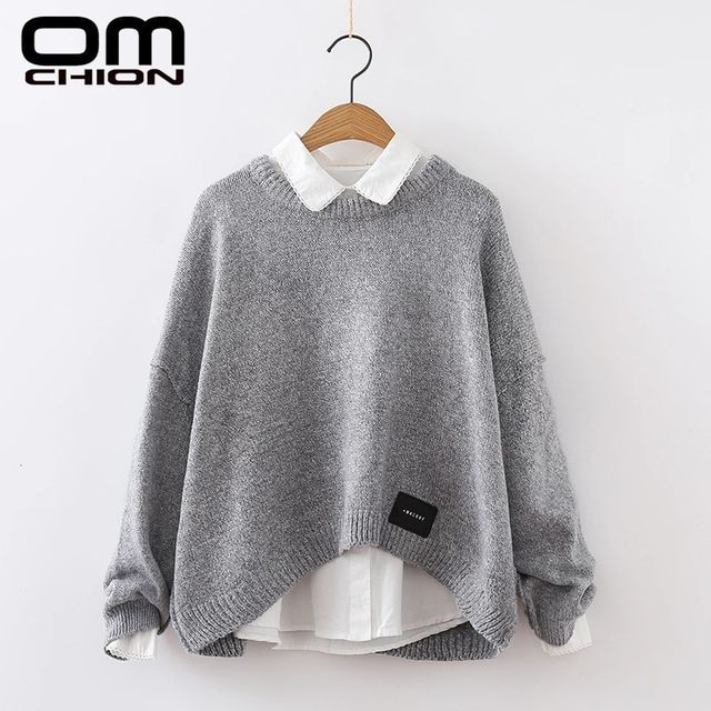 [해외] Omchion 새로운 2019 가을 o 목 여성 스웨터와 pullov