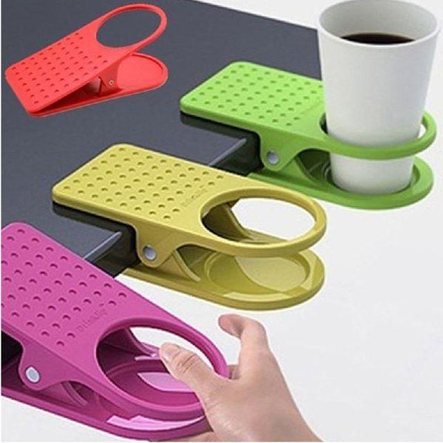 컵홀더 집게 홀더 컵받침대 받침 테이블 다용도 수납