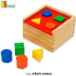 원목 장난감 VIGA 도형 넣기상자 8p