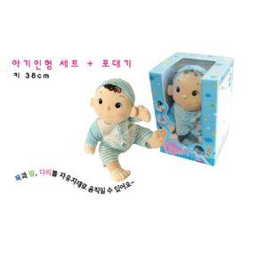 놀이 역할 아기 봉제 교육용 장난감 포대기 인형 세트
