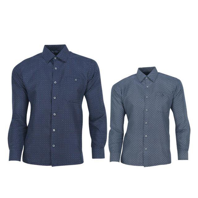 W TCC_페라어스 남성 JP 일리노이 잔무늬 남방 골프셔츠