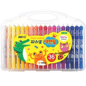 부드러운 색연필 유아 어린이집 유치원 파스넷 36색