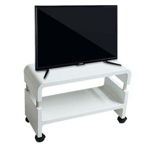 이동식 미니 tv 거실장 테이블 화이트 티비 다이 500