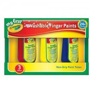 크레욜라 핑거페인트 150ml 3색 어린이 미술 놀이