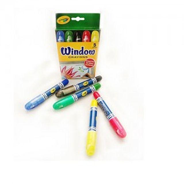 [더산쇼핑]크레욜라 윈도우용 크레용5색 수성마카 색연필 학용품