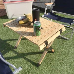 캠핑 접이식 롤테이블 S