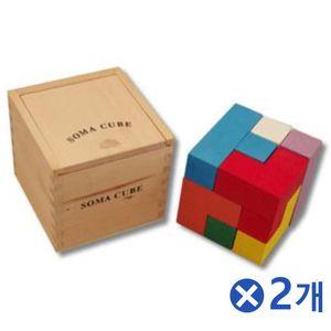 우드 모양만들기 큐브x2개 어린이집교구 유아완구