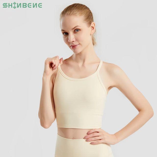 [해외] SHINBENE 늑골이있는 일반 체육관 요가 운동 브래지어