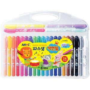 부드러운 색연필 어린이집 유치원 색칠놀이 24색