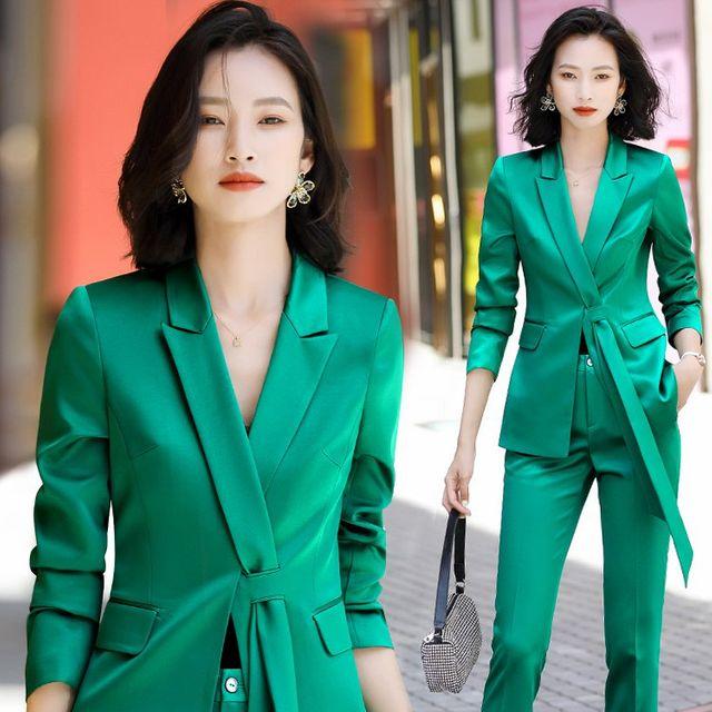 [해외] 여성 패션 재킷 자켓 정장세트 긴팔 드레스 재킷