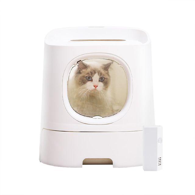 [해외] 고양이화장실 캣토일렛 배변박스+두부 샌드