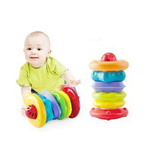 아기 돌 선물 스태킹 롤러 딸랑 소리 놀이 장난감
