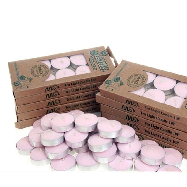 티라이트캔들 향초.핑크1세트/10P [제작 대량 도매 로고 인쇄 레이저 마킹 각인 나염 실크 uv 포장 공장 문의는 네이뽕]