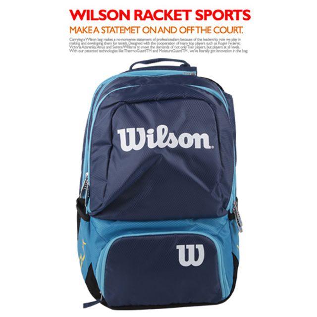윌슨 WRZ844695 투어V 백팩 미듐블루 테니스-배드민턴