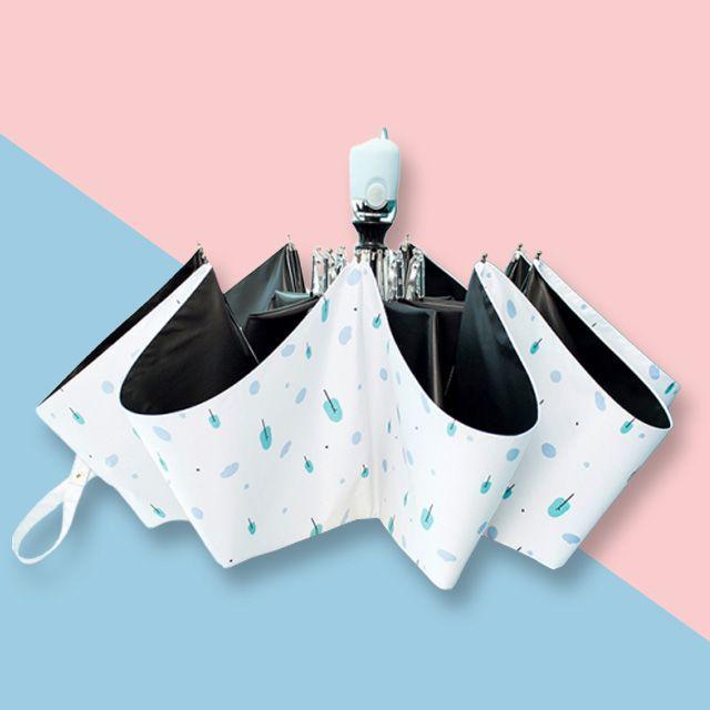 고급 튼튼한 3단 자동 자외선차단 이쁜 우산 화이트