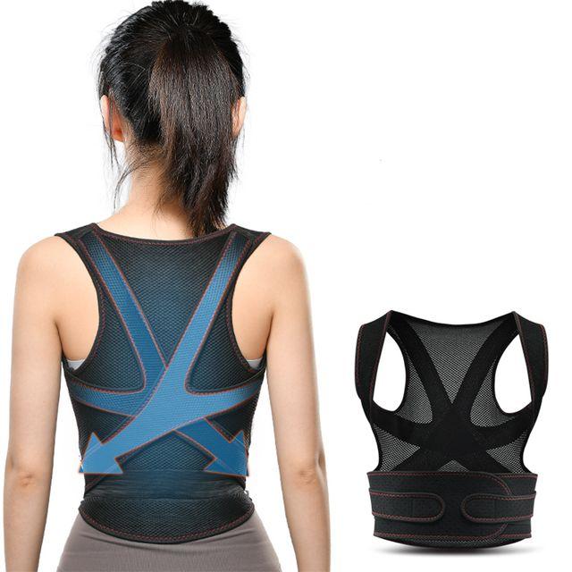 [해외] DeKang 밴드 어깨 허리 척추 블루 XS 110~140CM