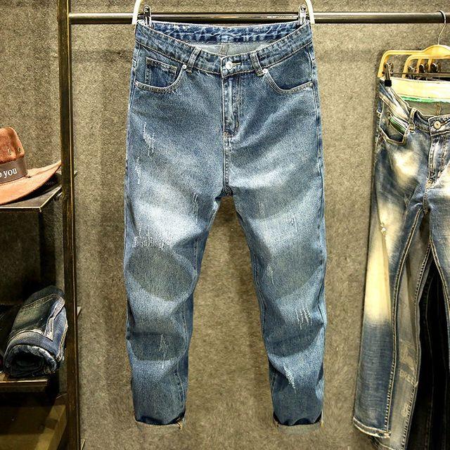 [해외] 남성 청바지 긴바지 점 바지 얇은 섹션