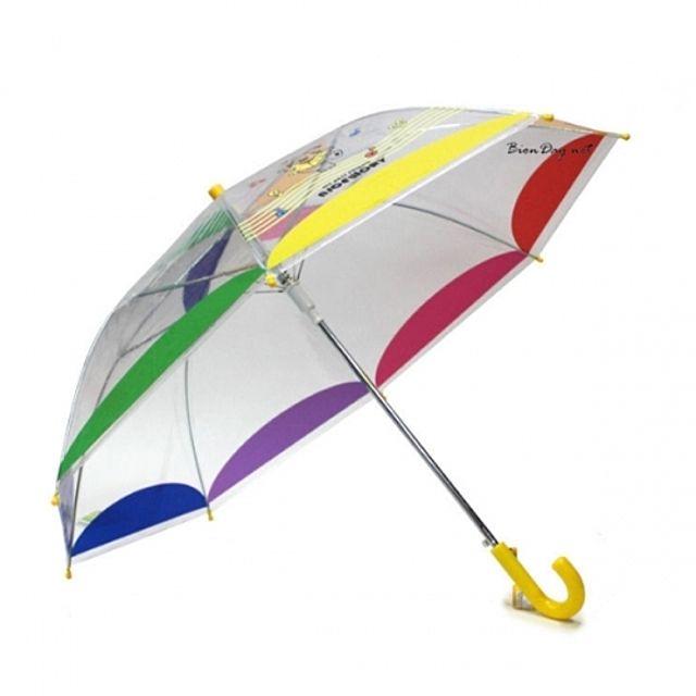 나이스워리 투명무지개우산 [제작 대량 도매 로고 인쇄 레이저 마킹 각인 나염 실크 uv 포장 공장 문의는 네이뽕]