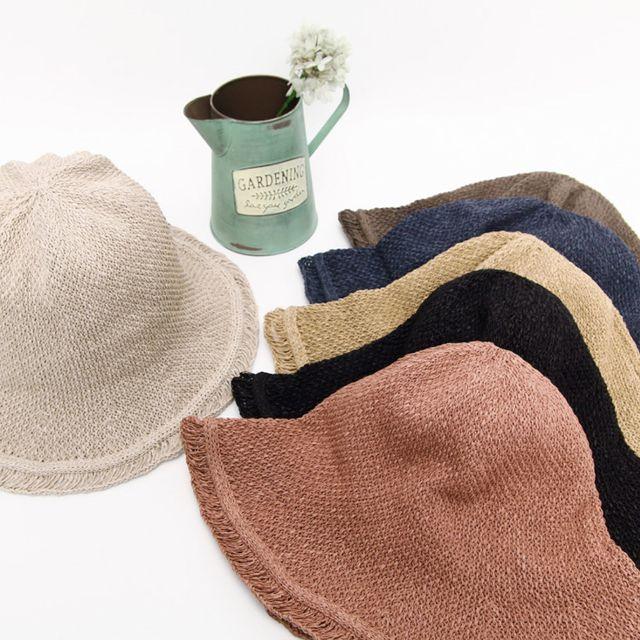 네잎 플로피햇 여름 여자 캐주얼룩 여행 벙거지 모자