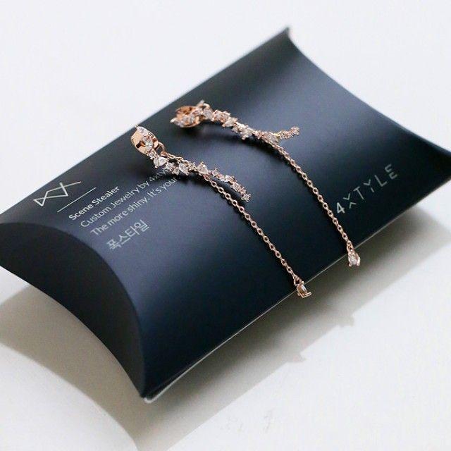 韩国直邮 (银针)风衣可爱耳环