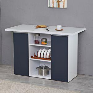 크레시 네이비 오픈형 홈바테이블/아일랜드식탁주방수